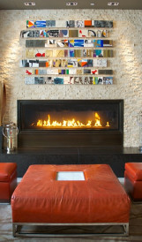 C1145 Intercontinental Hotel fireplace 1