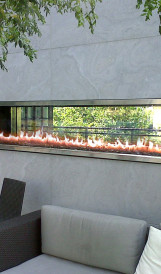 C1182 - X Condo outdoor fireplace