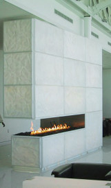 C795 Air Canada Maple Leaf Lounge Montreal fireplace_IDS Design, Gabriel Lighting Design 2