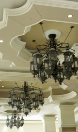 c907 Harrahs gas light lantern chandeliers